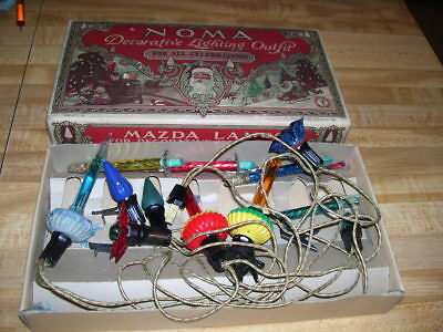 Antique Christmas Lights Noma 1927 Mazda & Bubble Lamps C6