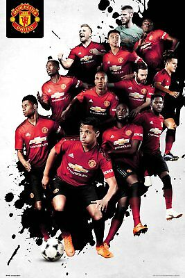 Manchester United Poster - PLAYERS 18/19 - New Man Utd Football poster SP1540