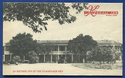 Boerne Texas tx Kendall Inn Stagecoach stop old postcard