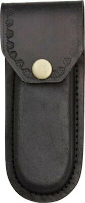 "Black Leather Belt Pouch Sheath For Folding Knife Or Tool Up To 5"" PA3326Bk"
