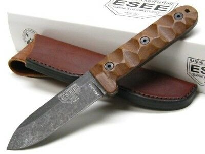 ESEE ESPR4BO Brown Micarta Camp Lore PR-4 Straight Fixed Blade Knife + Sheath