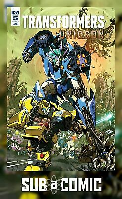 TRANSFORMERS UNICRON #5 COVER A MILNE (IDW 2018 1st Print) COMIC