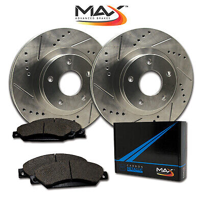 2011 2012 2013 Lexus IS350 Slotted Drilled Rotor w/Metallic Pads R