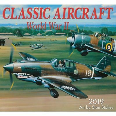 2019 Classic Aircraft of WWII Wall Calendar, Airplanes by Zebra Publishing
