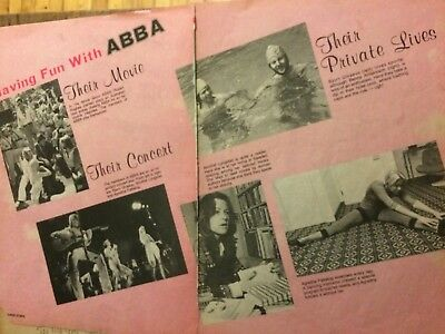 Abba, Two Page Vintage Clipping