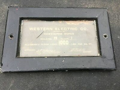 Western  Electric Hawthorne Works Building Sign Telephone Old Phone Only One