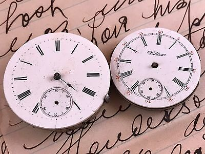 Pair Of Antique/vintage Pocket Watch Movements