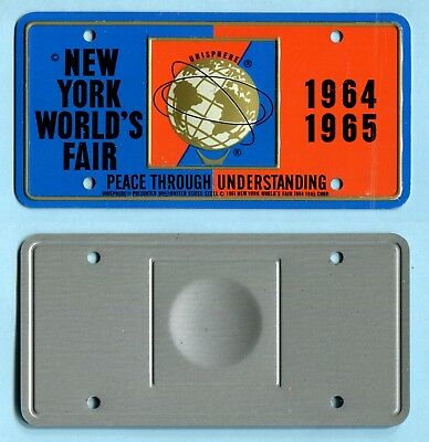 1964 New York World's Fair UNISPHERE BICYCLE LICENSE PLATE
