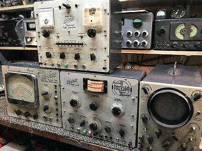 Set of 4 1960's Hickok  Models 650, 610A, 209A, and 670 Television Testers