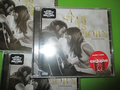 IN STOCK Lady Gaga SEALED A Star Is Born Soundtrack CD BONUS POSTER 2018 MOVIE