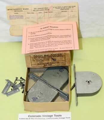 (3) NOS Vintage MONTGOMERY WARD Window Sash Balances & More / $7.25 to Ship