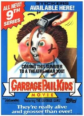 1986 Garbage Pail Kids Original Series 9 Box Topper Dealer Sell Sheet
