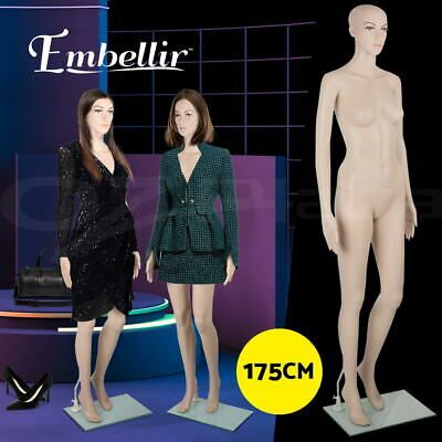【20%OFF】Full Body 175cm Female Mannequin Head Torso Clothes Display Dressmaking