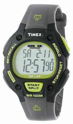 Timex Men's T5K6929J Ironman Traditional 30-Lap Black and Green Watch With Resin