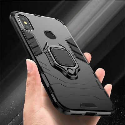 For Xiaomi Mi A2 Lite Pocophone F1 Magnetic Armour Stand Ring Holder Case Cover