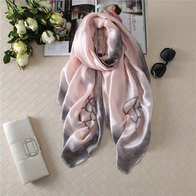 For Women Best Gift Luxurious Mulberry Silk Large Long Scarf Office Shawl Style