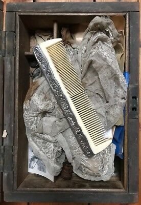 Vintage Antique Metal Mounted Enchanted Comb Orphaned From Vanity Set Silver?