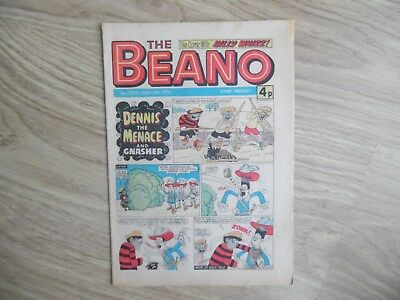 Beano Comic No 1738 November 8th 1975, Vintage UK Dennis the Menace