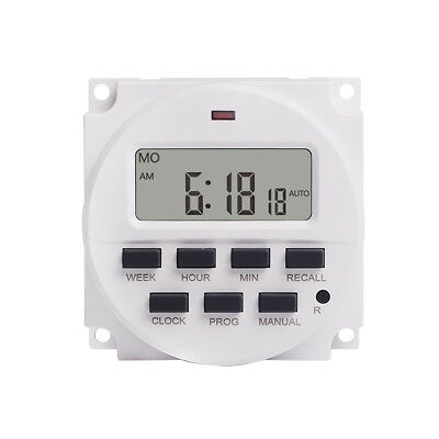 7 Day Heavy Duty Digital Programmable Timer LCD Power Time Control Switch 16A