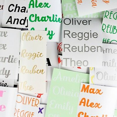 Personalised vinyl stickers  Custom Names Message lettering graphics decal Words