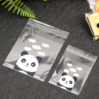 100PCS Panda Self-adhesive Cookie Bags Wedding Party Gift Candy Bag Biscuits Bag