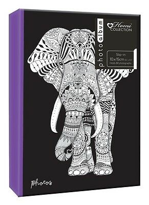 Zen Elephantt 6'' x 4'' Slipin Photo Album Holds 80 Photos