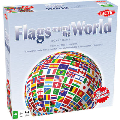 Tactic Flags Around The World Board Game NEW