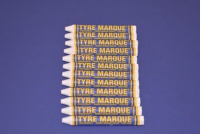 12 Markal Tyre Marque Crayon White Tire Rubber Glass Metal Auto Repair Marker