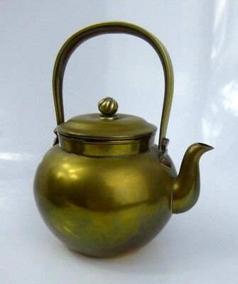 Japanese Antique Bronze & Copper Teapot Signed Meiji Period - HIGH QUALITY