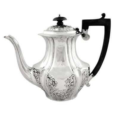 Antique Victorian Sterling Silver Coffee Pot - 1899