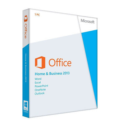 Microsoft Office Home & Business 2013 Product Key With DVD for 1 PC Sealed