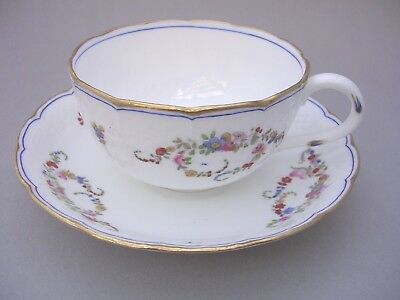 Mintons Cup And Saucer - Hand Painted Flowers - C. 1894 - Pattern 4051