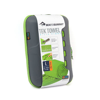 Sea to Summit TEK TOWEL Large Lime Green - Super Absorbent, Fast Drying, Light