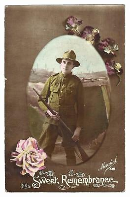 c1920 Patriotic PC from 56th reg. Soldier