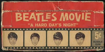 """1964 Topps Beatles Movie """"A Hard Day's Night"""" 5-Cent Display Box"""