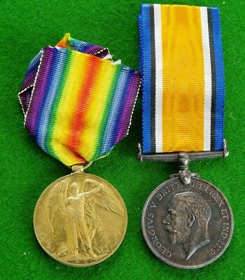 WW1 Medal Pair to Sjt 16562 Harry Garner Lancashire Fusiliers