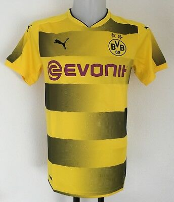 Borussia Dortmund 2017/18 S/s Home Shirt By Puma Size Men's Medium Brand New