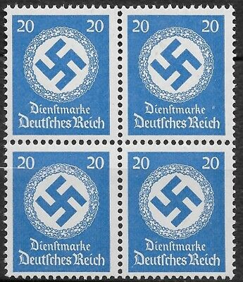 Nazi Germany 3rd Reich  Official Stamps Mi # 174  MNH 1942/44  Block of 4 **