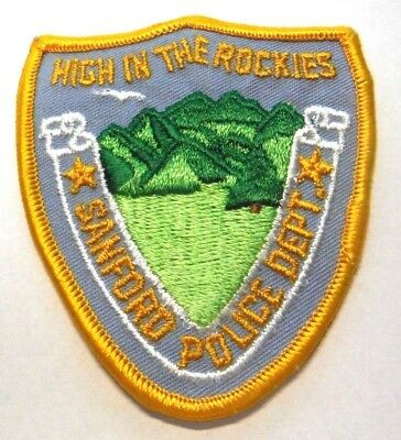 """Sanford Colorado Police High In The Rockies 3.5"""" Patch Unused"""