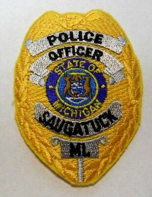 Saugatuck Michigan Police Vest Hat Patch Unused