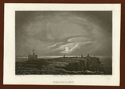 Helgoland, Stahlstich ca. 1860