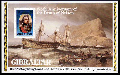 Gibraltar Bl. 7 **, 175. Todestag Lord Nelson-Schiffe