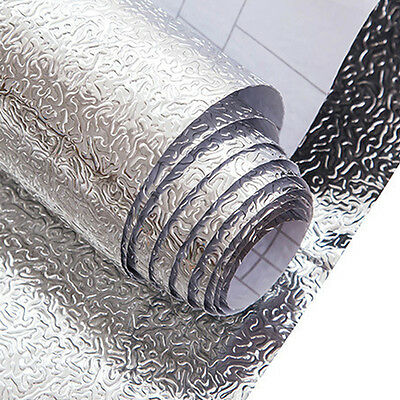 1 Roll Waterproof Foil Decals Anti-oil Self-adhesive Stickers Kitchen Wall Decor