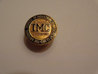 Vintage YMCA Council of Industrial Management Clubs Screw Back Pin Greensboro NC