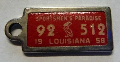 1952 Louisiana Dav Disabled American Veterans Mini License Plate