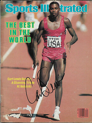 Carl Lewis Hand Signed Autographed Sports Illustrated Magazine 8/22/93 With Coa