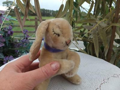 Old Vintage Antique German Steiff Mohair Toy Floppy Hansi Sleeping Rabbit - Bear