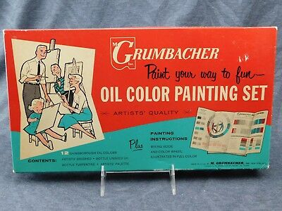 Vintage Grumbacher Oil Color Painting Set C1959 Possibly Nib