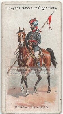 Indian Bengal Lancer Cavalry Horse Rider England  100+ Y/O Trade Ad Card