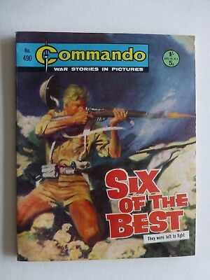 EXCELLENT No 490 From 1970 Six Of The Best Commando Comic War Stories in Picture